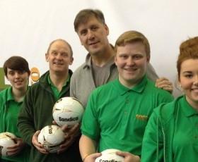 Eric Nixon legendary Man City & Tranmere Rovers goalkeeper opens new sports centre.