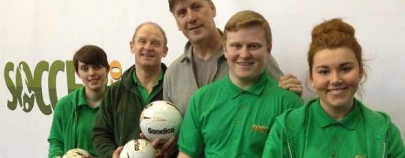 Eric Nixon legendary Man City & Tranmere Rovers goalkeeper opens new sports centre.