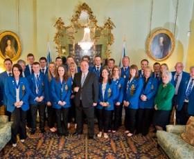 David Murdoch and Team Brewster meet Scotland first minister Alex Salmond